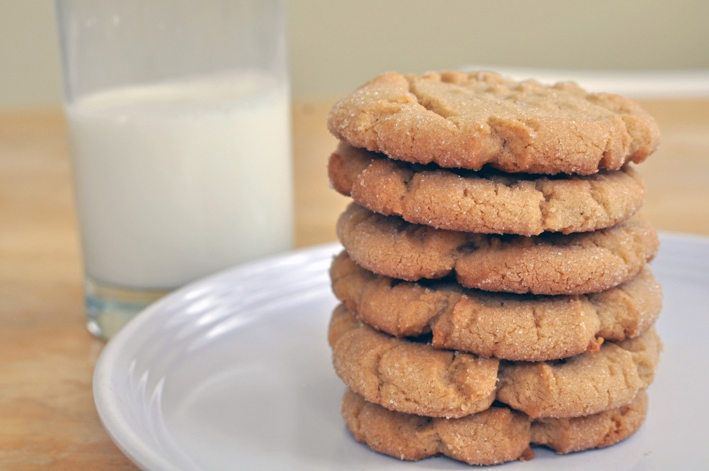 stack of amish peanut butter cookies
