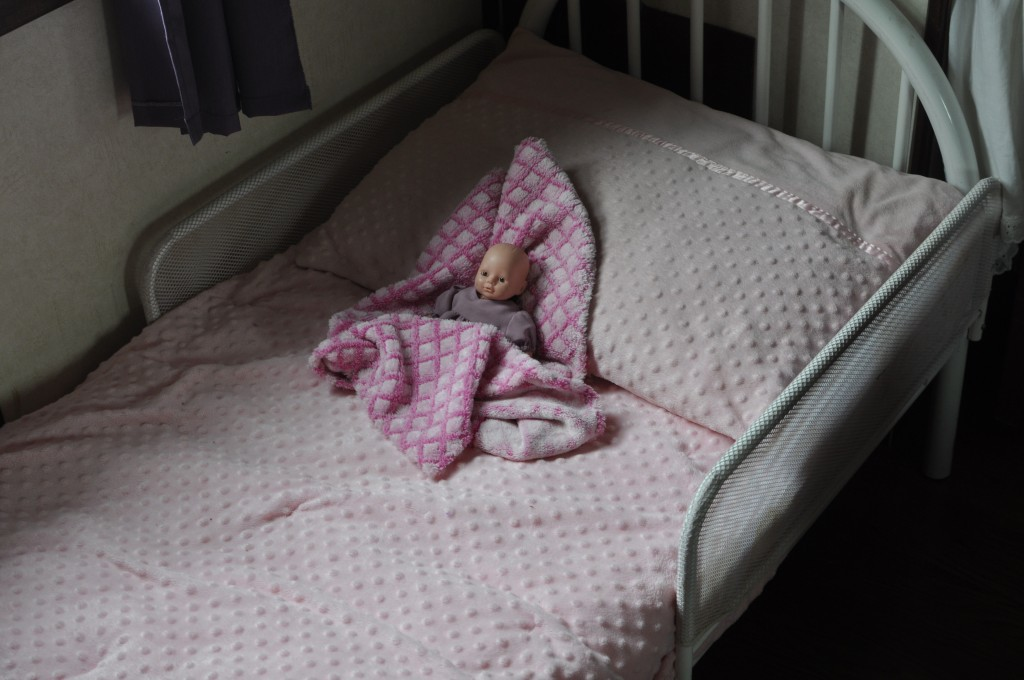 Juila's bed (pictured here) was moved to Gloria and Daniel's room temporarily to make way for David